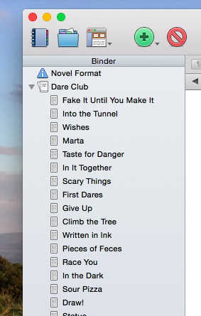 Scrivener Chapter Titles