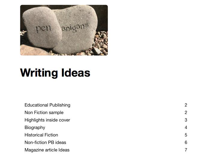 organize writing ideas