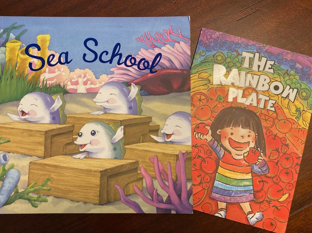 two picture books Sea School and Picky Penny