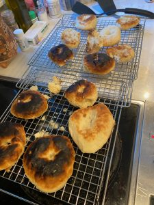 burnt bagels